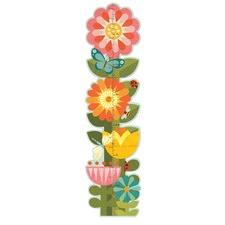 Garden Flowers Print Folding Growth Chart