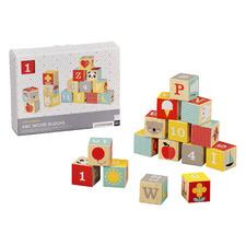 15 Piece ABC Wooden Block Set