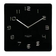 Square Glass Contemporary Wall Clock 35 cm