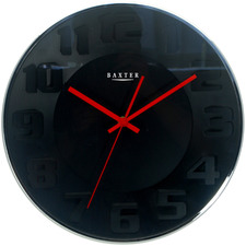 34cm Metal Wall Clock with 3D Face numerals