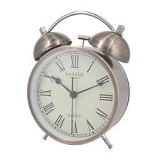 11.4cm Metal Roman Numerals Bell Alarm Clock