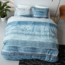 Blue Lived Cotton Quilt Cover Set