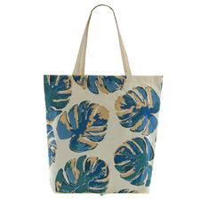 Blue Maxim Leafy Cotton Foldable Shopping Bag