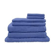 7 Piece Heritage Blue Hayman Zero Twist Cotton Bathroom Towel Set