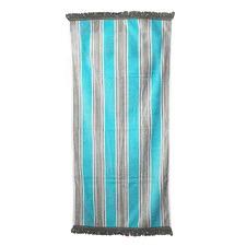 Island Fringed Cotton Beach Towel