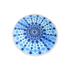 Santorini Round Cotton Beach Towel