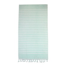 Mint Hampton Cotton Beach Towel