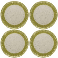 Olive Pantanal Porcelain Dinner Plates (Set of 4)
