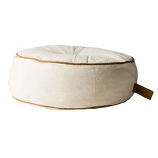 Round Utility Cotton & Leather Floor Cushion