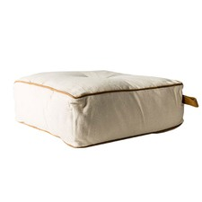 Square Utility Cotton & Leather Floor Cushion