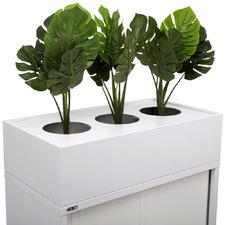 White Remo Steel Office Planter Box