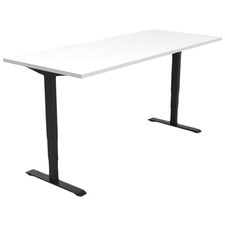 White Gregor Height Adjustable Desk