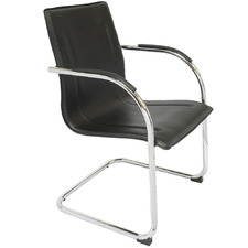 Black Hero Faux Leather Visitor Chair