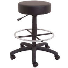 Gordana Faux Leather Office Stool with Footrest