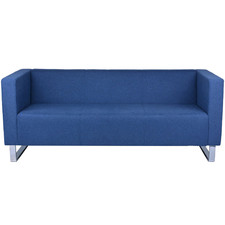 Blue Gordana 3 Seater Office Sofa