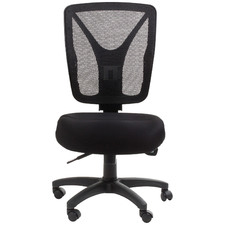 Black Burghley Mesh-Back 2-Lever Office Chair