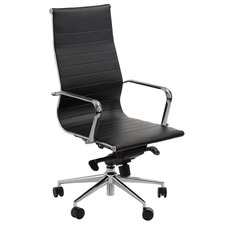 Brice High-Back Faux Leather Office Chair