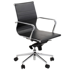 Brice Mid-Back Faux Leather Office Chair