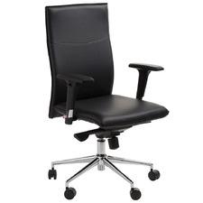 Black Jeremiel Faux Leather Office Chair