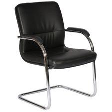 Black Norton Faux Leather Desk Chair