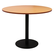Black Base Lawson Round Meeting Table