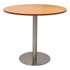Chrome Base Lawson Round Meeting Table