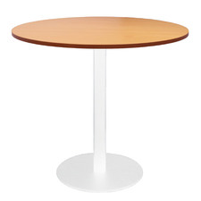 White Base Lawson Round Meeting Table
