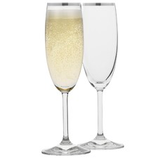 Selene Platinum Trim Champagne Glasses (Set of 4)