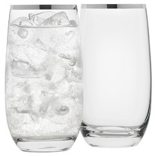 Selene Platinum Trim Highball Glasses (Set of 4)