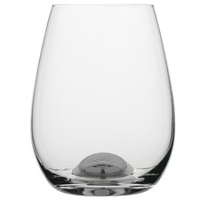 Selene Platinum Dimple Stemless Wine Glasses (Set of 4)