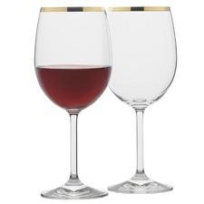Selene Gold Trim Wine Glasses (Set of 4)