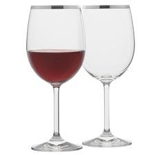 Selene Platinum Trim Wine Glasses (Set of 4)