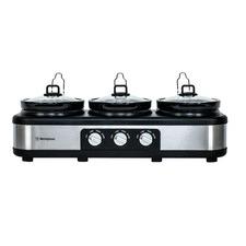 Conbi Triple Pot Stainless Steel Slow Cooker