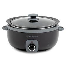 Black 6.5L Non-Stick Aluminium Slow Cooker