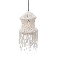 White Heather Lobe Cotton Pendant Light