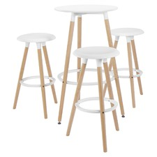 3 Seater Emmerson Round Bar Table & Stools Set