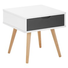 Vasby 1 Drawer Scandinavian Bedside Table