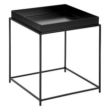 Black Como Steel Side Table