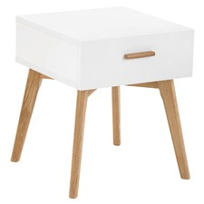 Vasby White Scandinavian Bedside Table