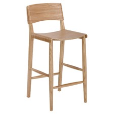 65cm  Kobe High Back Ash Wood Barstool