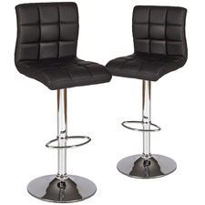 Martini High Back Swivel Adjustable Barstools (Set of 2)