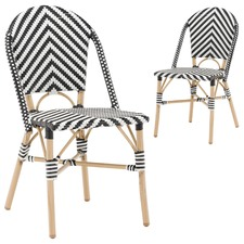 Paris PE Rattan Cafe Dining Chairs (Set of 2)