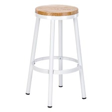 76.5cm Bailey Metal & Ash Wood Barstool