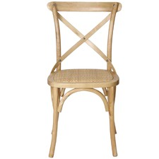 Natural Bella Cross Back Dining Chair