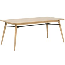 Oak & Metal Milo 180cm Dining Table