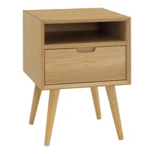 Olsen Oak Square 1 Drawer Bedside Table