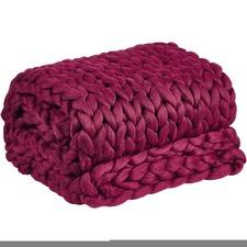 Pomegranate Chunky Knit Throw