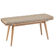 Rollo Ash Wood Bench & Cushion