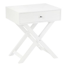 Black, White & Natural Twin Lakes Bedside Table
