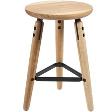 Oak & Metal Milo Low Stool